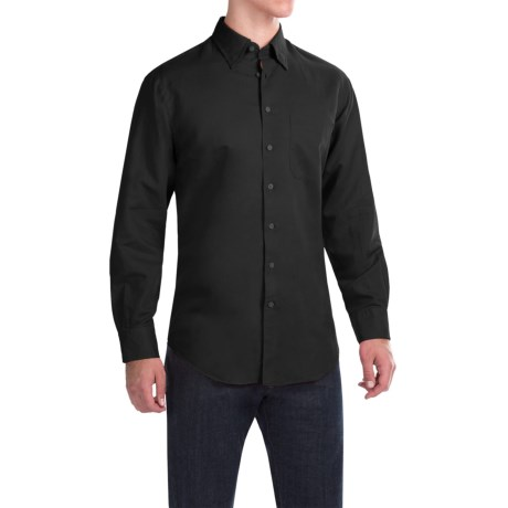 Scott Barber Andrew Solid Shirt - Button Front, Long Sleeve (For Men)