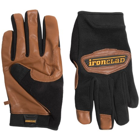 Ironclad Cowboy Leather Work Gloves (For Men and Women)