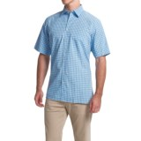 Scott Barber Charles Plain Weave Melange Shirt - Button Front, Short Sleeve (For Men)