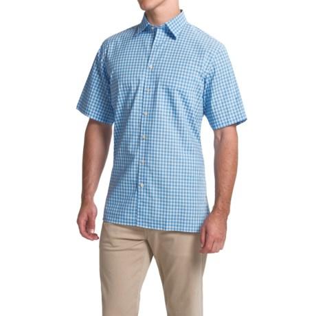 Scott Barber Charles Plain Weave Melange Shirt - Button Front, Short Sleeve (For Men)
