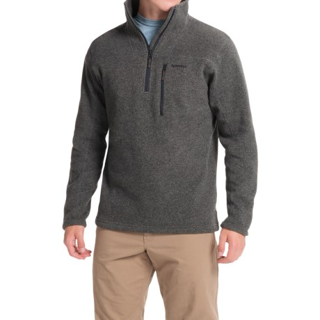 Simms Rivershed Sweater - UPF 30, Zip Neck (For Men)