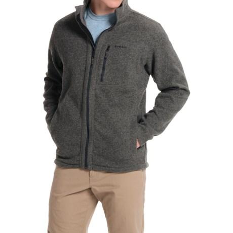 Simms Rivershed Sweater Jacket - UPF 30, Full Zip (For Men)