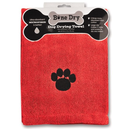 "Bone Dry Microfiber Drying Towel - 44x28"" in Red Paw - Closeouts"