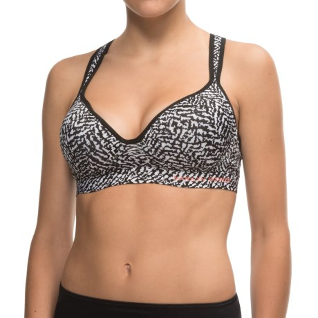 Marilyn Monroe Molded Microfiber Sports Bra - Crisscross Back (For Women)