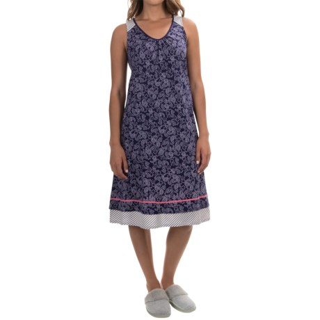 Ellen Tracy Printed Ballet Nightgown - Sleeveless (For Women)