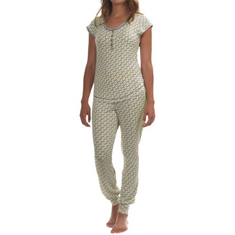 Kensie Stretch-Knit Jogger Pajamas - Short Sleeve (For Women)