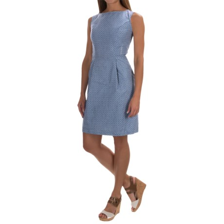Woven Cotton Dress - Sleeveless (For Women)