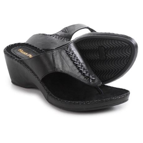 Hush Puppies Aven Copacabana Wedge Sandals - Leather (For Women)