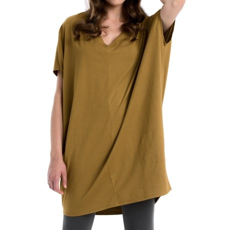 Neon Buddha Cosmic Tunic Shirt - Stretch Cotton, Sleeveless (For Women)