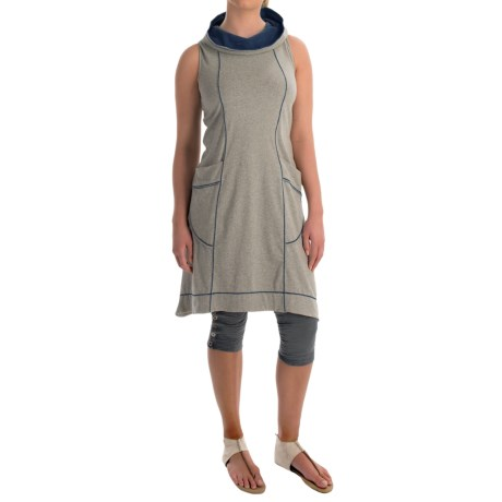 Neon Buddha Corrina Hoodie Dress - Stretch Cotton, Sleeveless (For Women)