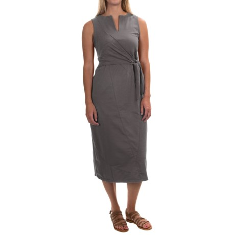 Neon Buddha Nomad Tie Dress - Stretch Cotton, Sleeveless (For Women)