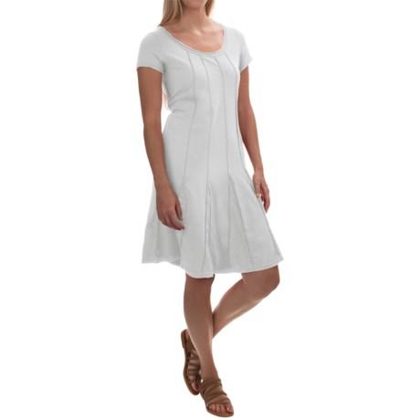 Neon Buddha Daydream Pintuck Dress - Stretch Cotton, Short Sleeve (For Women)