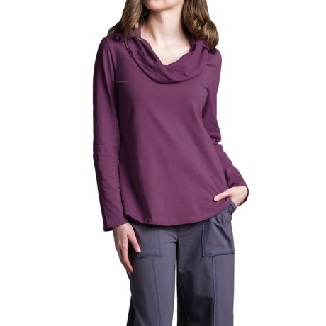 Neon Buddha Trend Shirt - Cowl Neck, Long Sleeve (For Women)