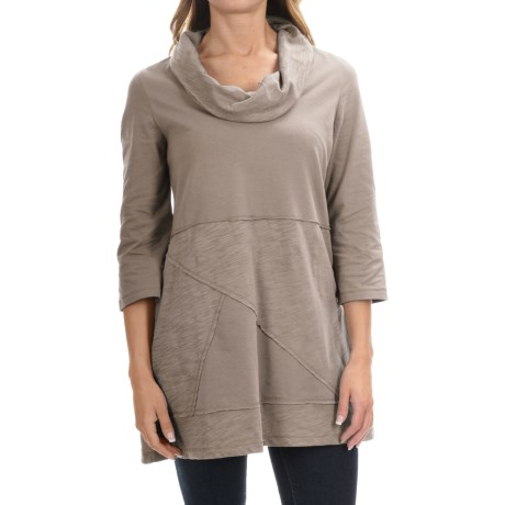 Neon Buddha Neighborhood Tunic Shirt - Cowl Neck, 3/4 Sleeve (For Women)