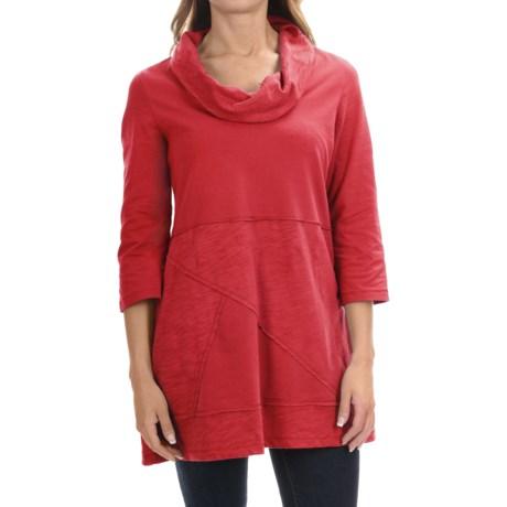 Neon Buddha Neighborhood Tunic Shirt - Cowl Neck, 3/4 Sleeve (For Women)