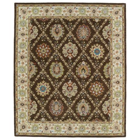 "Kaleen Taj Collection Area Rug - 5x7'9"", Hand-Tufted Wool"