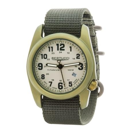 Bertucci A-2T Olive Titanium Watch (For Men and Women)