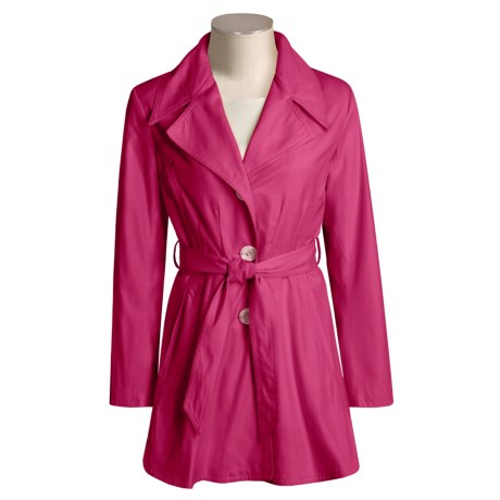 Marvin Richards Cotton Rich Coat - Hip Length (For Women)