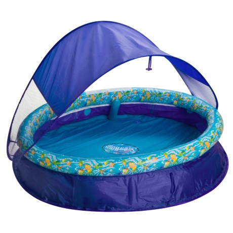 SwimWays Spring Pool with Canopy - 100 Gallon  sc 1 st  Sierra Trading Post & convient pop up pool - Review of SwimWays Spring Pool with Canopy ...