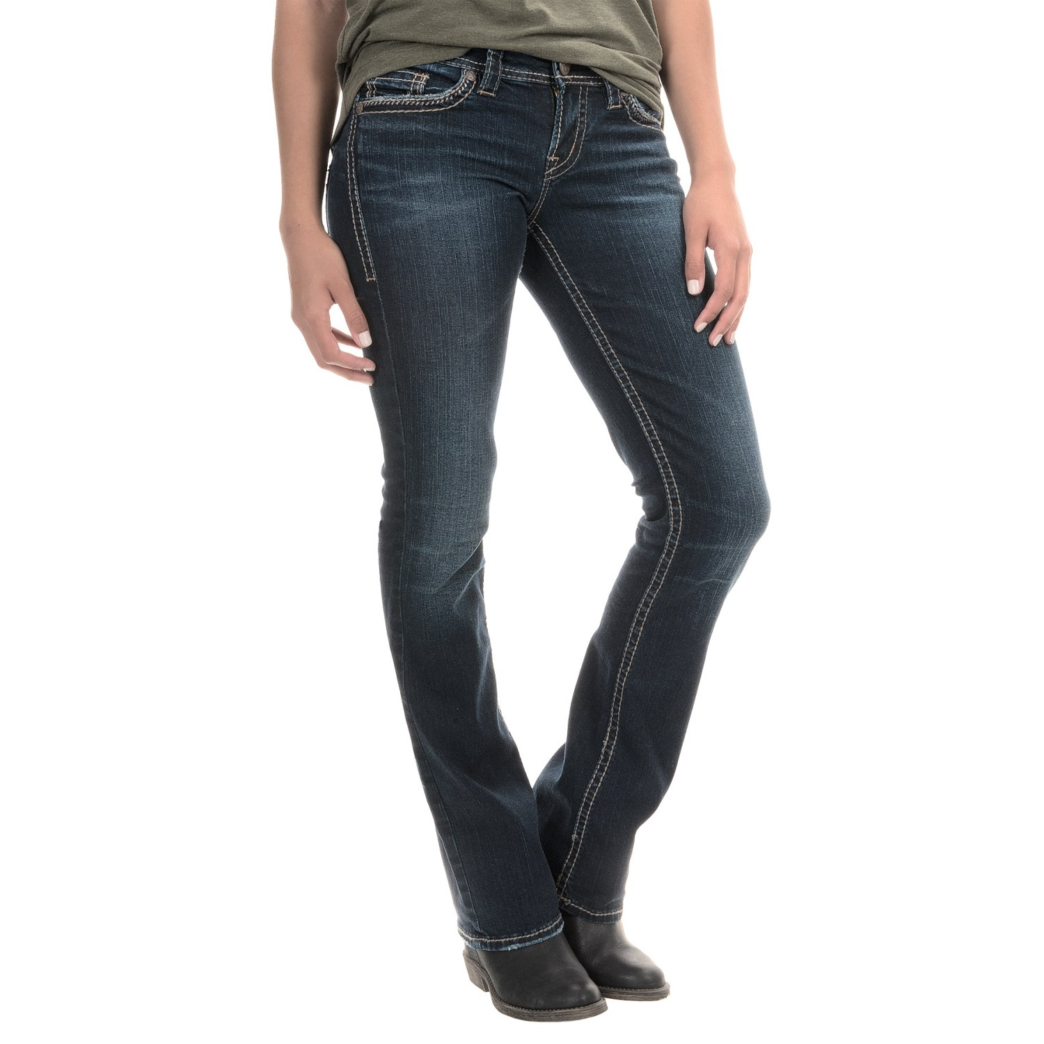 Silver Jeans Aiko Mid Jeans For Women 153dk Save 49