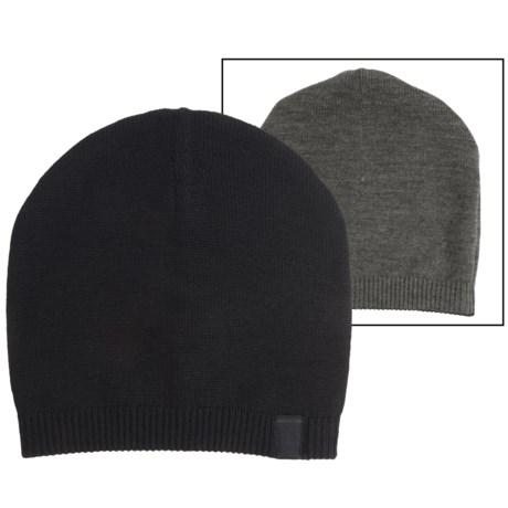 Portolano Reversible Jersey Beanie - Merino Wool (For Men)