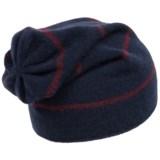 Portolano Cashmere Stripe Jersey Beanie (For Men)