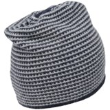 Portolano Cashmere Waffle Check Beanie - Reversible (For Men)