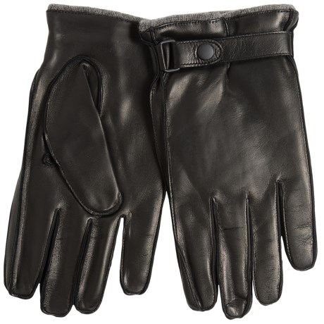 Portolano Nappa Leather Gloves - Cashmere Lined, Snap Strap (For Men)