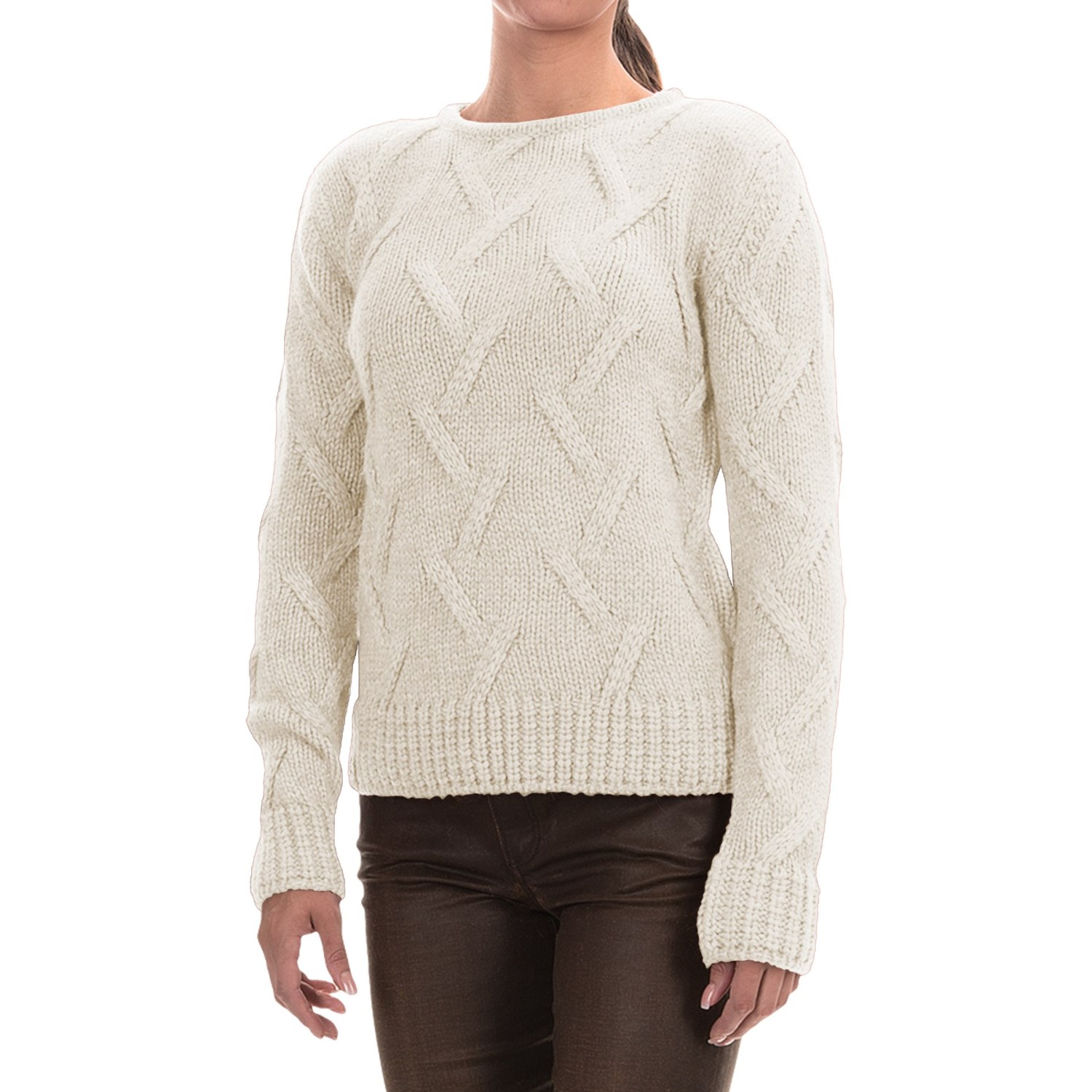Barbour Ratio Cable-Knit Sweater (For Women) 153HA - Save 84%