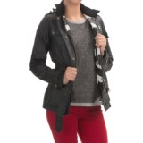 Barbour Rectifier Belted Waxed-Cotton Jacket (For Women)