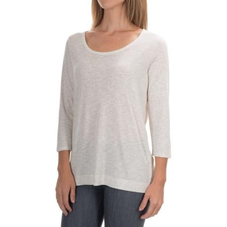 Paraphrase Slub-Knit Shirt - Cotton-Modal, 3/4 Sleeve (For Women