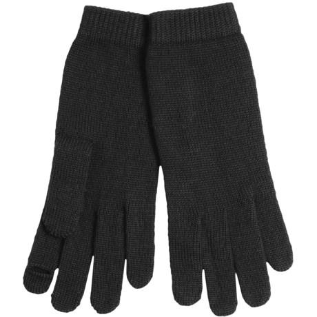 Portolano Merino Wool Blend Gloves - Touchscreen Compatible (For Women)