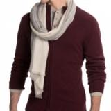 Portolano Woven Merino Wool Scarf (For Men and Women)