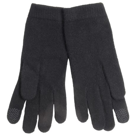 Portolano Cashmere Jersey Gloves with Tech Fingertips (For Women)