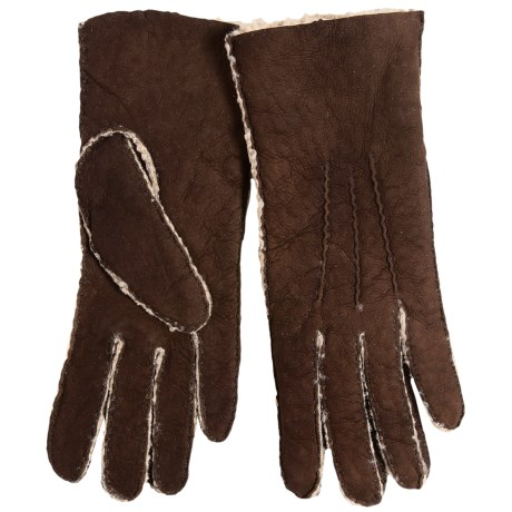 Portolano Handsewn Curly Shearling Gloves (For Women)