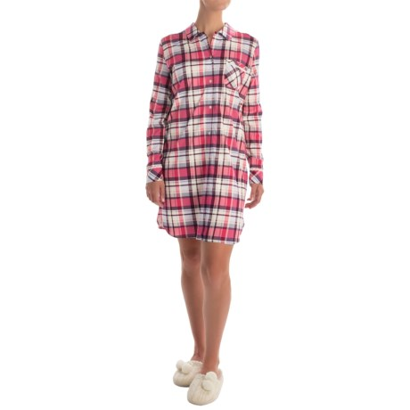 Calida Etude Stretch Sleep Shirt - Long Sleeve (For Women)