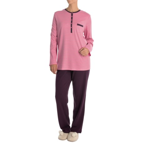 Calida Purple Rain Pajamas - Cotton, Long Sleeve (For Women)
