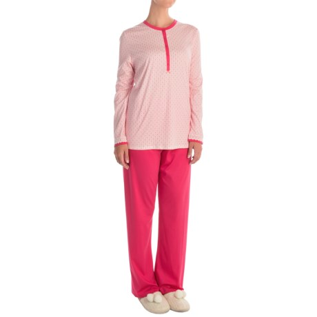 Calida My Way Supima® Cotton Pajamas - Long Sleeve (For Women)