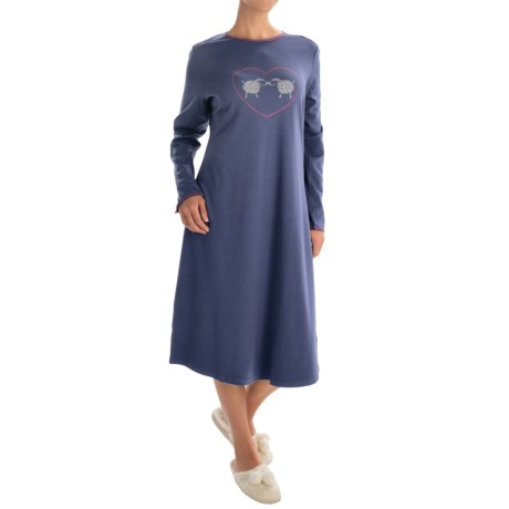 Calida Family Time Nightgown - Long Sleeve (For Women)