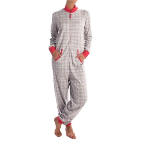 Calida Family Time Jumpsuit Pajamas - Heavyweight Interlock Cotton, Long Sleeve (For Women)
