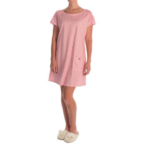 Calida Playground Nightshirt - Cotton Jersey, Short Sleeve (For Women)