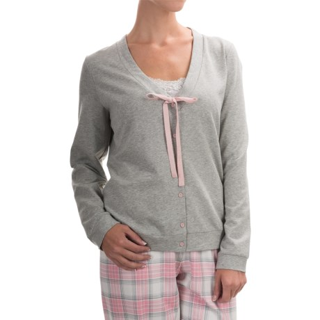 Calida Favourites Trend 2 Lounge Jacket - Cotton Jersey, Long Sleeve (For Women)