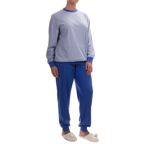 Calida Early Flower Pajamas - Cotton, Long Sleeve (For Women)