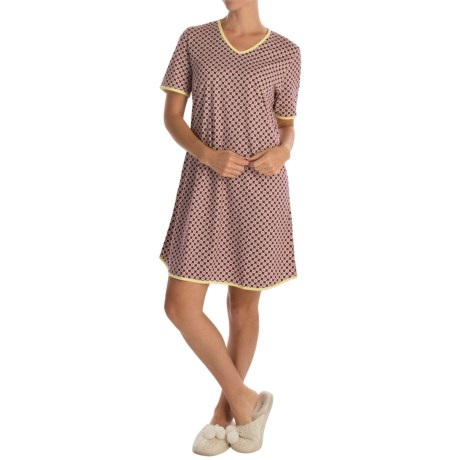 Calida Daisy Bunch Nightgown - Short Sleeve (For Women)