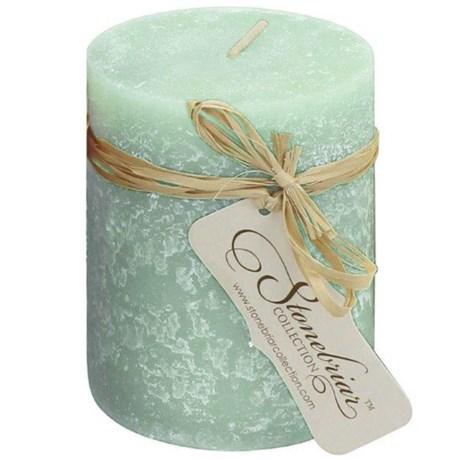 "Stonebriar Collection Textured Pillar Candle - 4x3"""