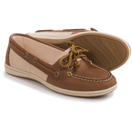 Sperry Firefish Moc-Toe Boat Shoes - Leather and Canvas (For Women)