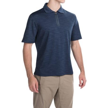 Pacific Trail Tonal Zip Neck Polo Shirt - UPF 30+, Short Sleeve (For Men)