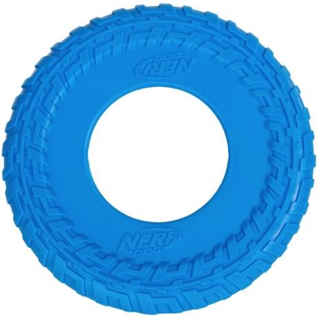 """Nerf Dog Tire Tread Flyer Dog Toy - 10"""""""