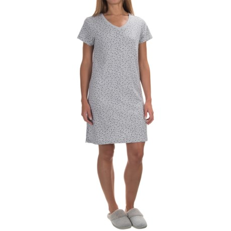 Jockey Cotton-Blend Nightshirt - Short Sleeve (For Women)