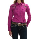 Ariat Ariana Embroidered Poplin Western Shirt - Snap Front, Long Sleeve (For Women)